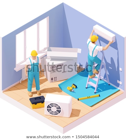 Vector isometric air conditioner installation Stock photo © tele52