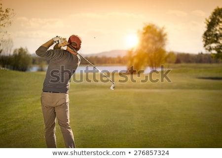мужчины · гольф · клуба · сумерки · красивой - Сток-фото © lichtmeister