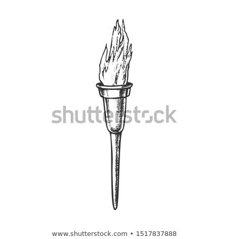 Tocha moderno metálico ardente vara nosso Foto stock © pikepicture