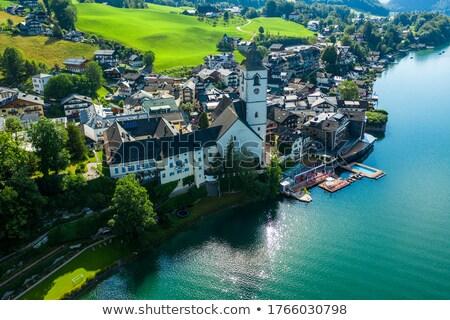 Ver Áustria lago cidade água paisagem Foto stock © borisb17