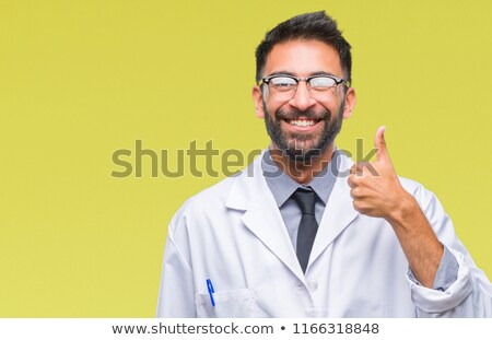 indian doctor or scientist showing ok Stock photo © dolgachov