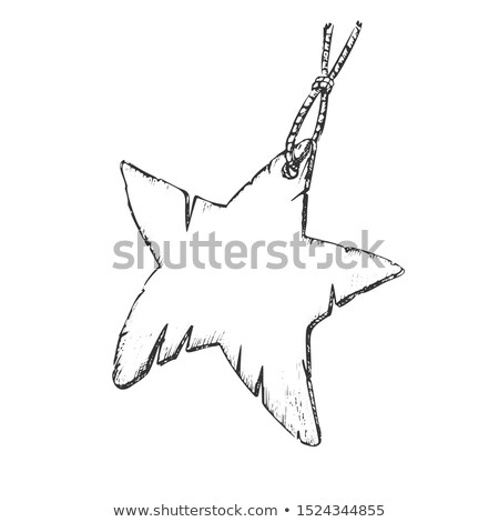 Label Paper Material In Star Shape Ink Vector Stock photo © pikepicture