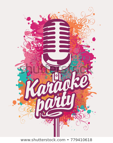 Modern Vocal Microphone Karaoke Color Vector Stock photo © pikepicture