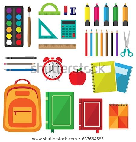 école papeterie outils notepad peinture portable Photo stock © robuart
