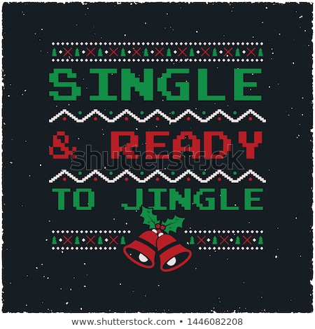 funny christmas graphic print t shirt design for ugly sweater xmas party decoration with bells or stock photo © jeksongraphics