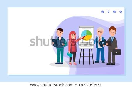семинара · диаграммы · совета · вектора · бизнесмен - Сток-фото © robuart