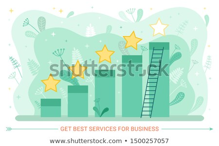 Szolgáltatás gyakoriság növekedés grafikus csillagok létra Stock fotó © robuart