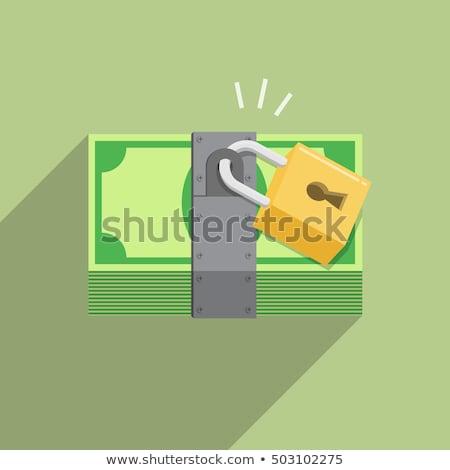 Pénz zárolt háttér bank zár pénz Stock fotó © ShustrikS