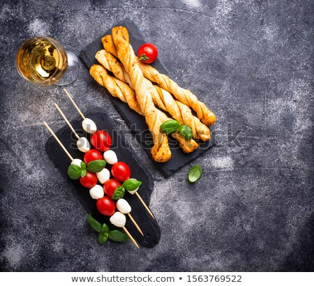 Caprese skewers and grissini bread Stock photo © furmanphoto