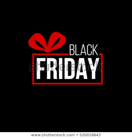black friday sale shopper with purchases banner stock photo © robuart