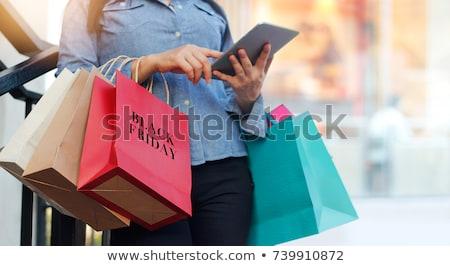 ショッピング ブラックフライデー 人 スタンド ショッピングバッグ 販売 ストックフォト © robuart