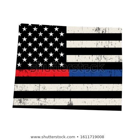 State of Wyoming Police Support Flag Illustration Stock photo © enterlinedesign