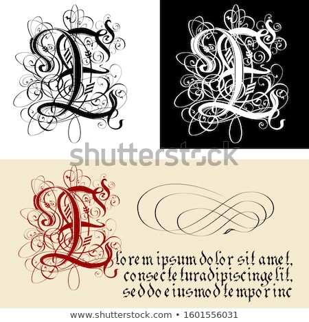 Decorativo gothic calligrafia vettore eps8 Foto d'archivio © mechanik