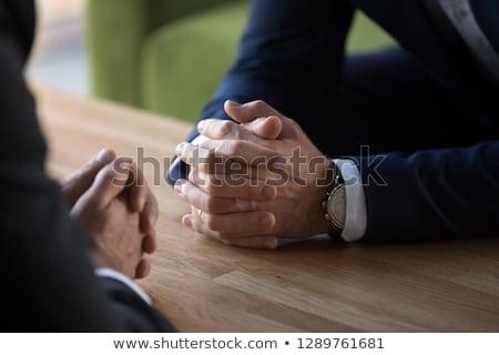 Negócio confronto empresário amarrar guerra Foto stock © nomadsoul1
