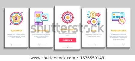 Bonus Hunting Onboarding Elements Icons Set Vector Stock photo © pikepicture