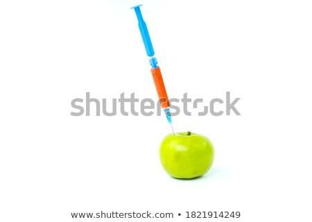maçã · manipulação · seringa · bio · genética · pesquisa - foto stock © dogbone66