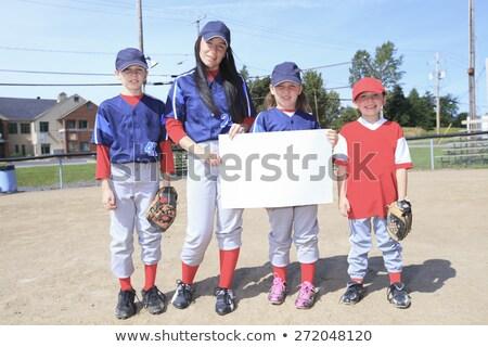 бейсбольной команда белый природы ребенка Сток-фото © Lopolo