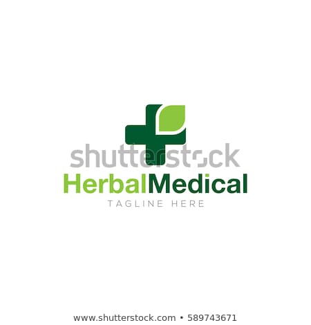 herbal medicine pharmacy health logo, medical plus icon symbol vector design Stock photo © gothappy