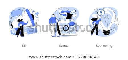Pr przekazują ogromny megafon Zdjęcia stock © RAStudio