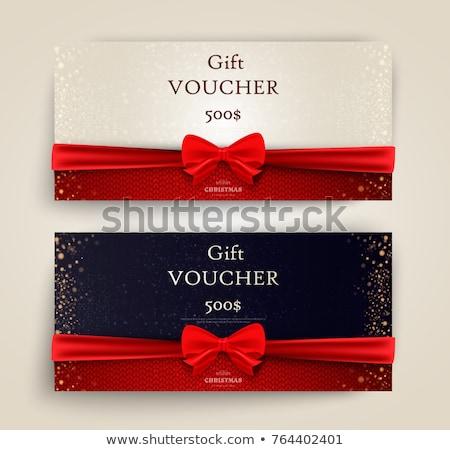 Wakacje gift card zakupy talon obecnej dar Zdjęcia stock © robuart