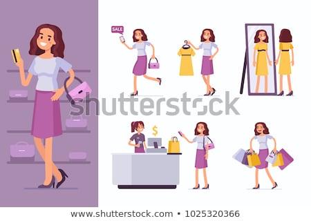 Mensen kopen kleding klant verkoper vector Stockfoto © robuart