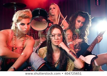 Moda pop grup performans çok uluslu kadın Stok fotoğraf © jossdiim