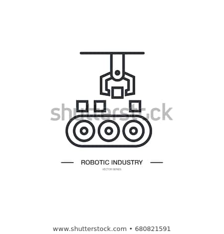 Robotachtige procede automatisering icon vector schets Stockfoto © pikepicture
