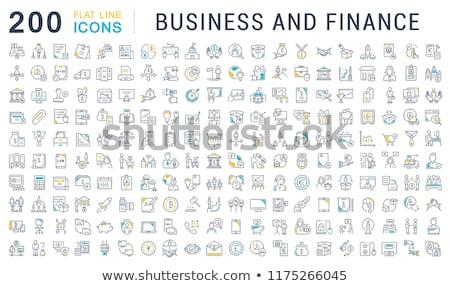 Banque employé de bureau icône vecteur illustration Photo stock © pikepicture