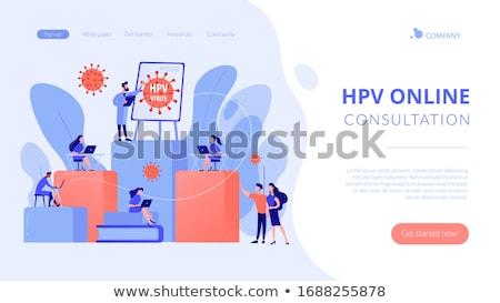 Human papillomavirus app interface template. Stock photo © RAStudio
