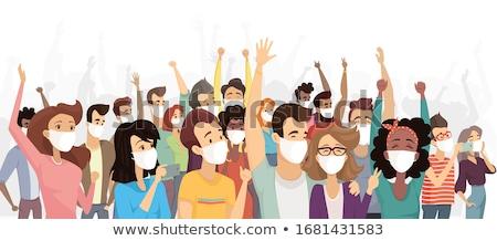Coronavirüs flaş grip kalabalık insanlar Stok fotoğraf © robuart