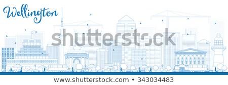 Wellington linha do horizonte azul edifícios Foto stock © ShustrikS