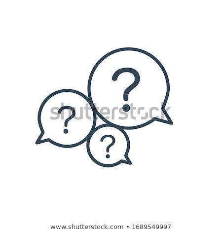 пузыря вопросительный знак часто задаваемые вопросы икона чате пузырь связи Сток-фото © kyryloff