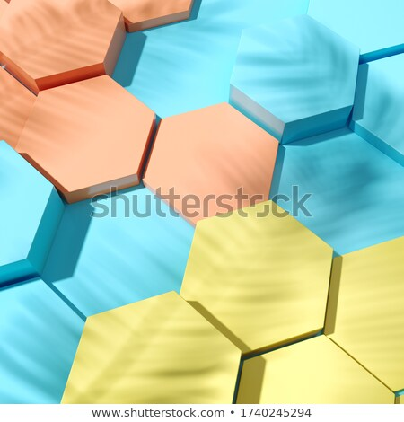 Geel podium 3D 3d render illustratie abstract Stockfoto © djmilic