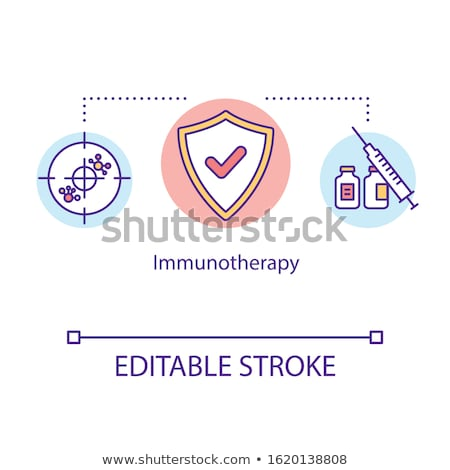 cancer treatment vaccine icon icon vector outline illustration Stock photo © pikepicture