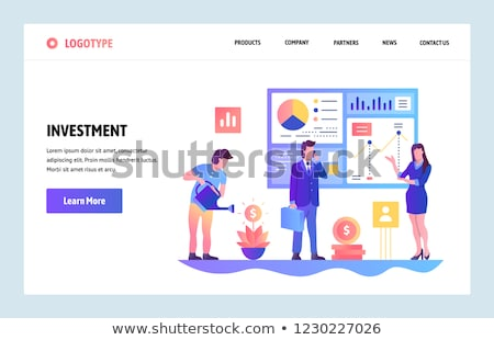 Venture investment landing page template. Stock photo © RAStudio