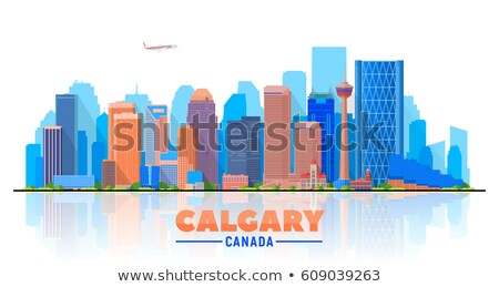 Abstract Calgary skyline with Color buildings.  Stock photo © ShustrikS