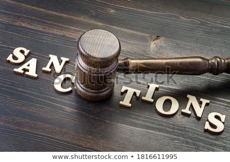 Sanction or conflict concept Stock photo © olira