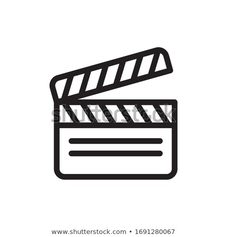 Video productie vector cinematografie logo Stockfoto © barsrsind
