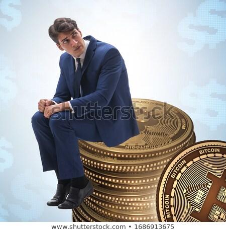 üzletember szomorú bitcoin ár csattanás technológia Stock fotó © Elnur