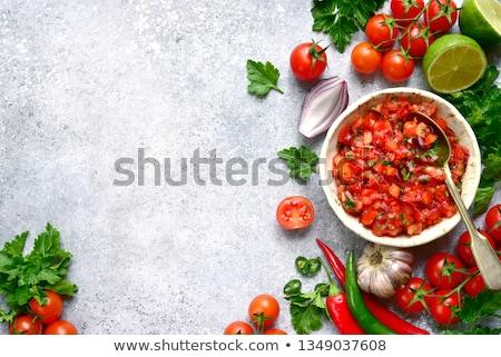 サルサ ディップ メキシコ料理 トマト タコス チップ ストックフォト © Freelancer