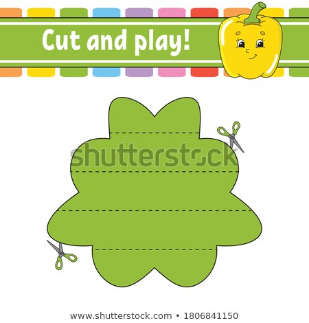Logic puzzle for kids. Education developing worksheet. Activity page with pepper Stock photo © natali_brill