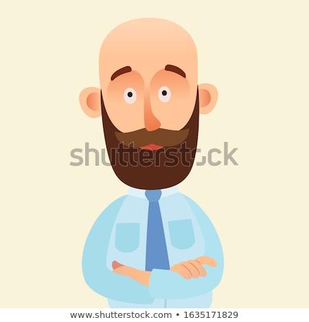 Barba hombre doblado armas retrato manos Foto stock © yupiramos