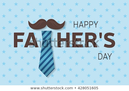 happy fathers day background with red tie design Stock photo © SArts