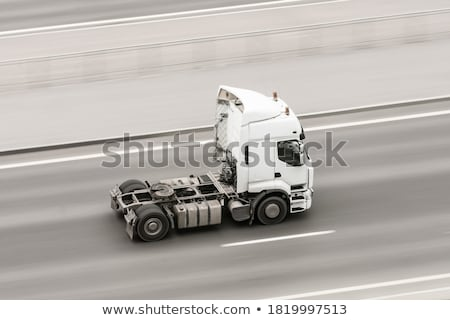 Dump truck pulling a trailer Stock photo © rcarner