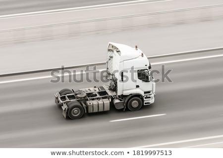 vrachtwagen · geïsoleerd · witte · bouw · trekker - stockfoto © rcarner