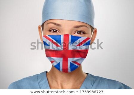 フラグ 英国の 医師 看護 女性 着用 ストックフォト © Maridav