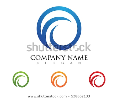 C Letter Water wave Logo Template Stock photo © Ggs
