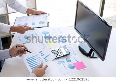 Business Accountant Or Banker Business Partner Calculate And An Сток-фото © Freedomz