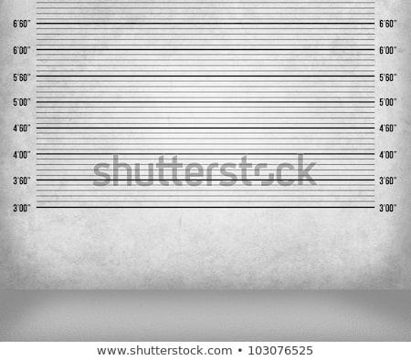policía · línea · negro · silueta · prisión · delincuencia - foto stock © milmirko
