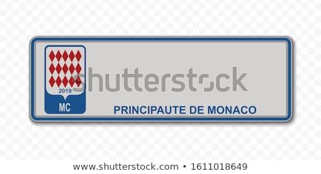 Сток-фото: Монако · шоссе · знак · зеленый · облаке · улице · знак